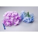 Головки квітів гортензії бузкові