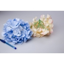 Головки квітів гортензії блакитні