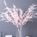 Штучна гілка рослини для весільного декору 119-4444 рожева