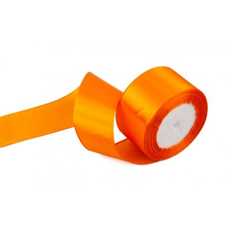Лента сатиновая 5 см. * 30 м Оранжевая 24