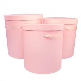 Набір тубусів з 3 шт W5639 рожеві