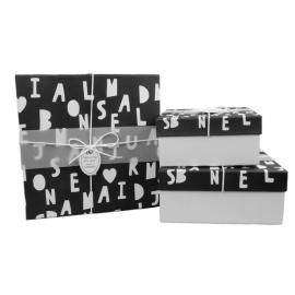 Набір коробок для подарунків з 3 шт 04037-10 Алфавіт