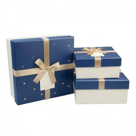 Набор коробок для подарков с 3 шт JKZ-38