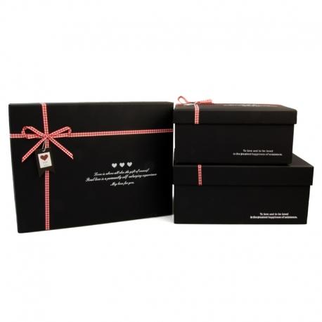 Набор коробок для подарков с 3 шт B18-1