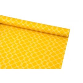 Папір крейдований 0,7м х 10ярд Білі ромбики на оранжевому