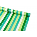 Coated paper 0.7 m x 10 yards White and mint strips