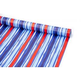 Папір крейдований 0,7м х 10ярд Сині тропічні смужки