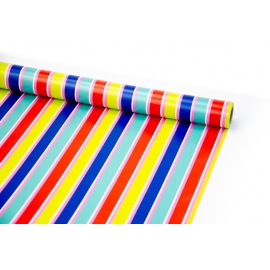Coated paper 0.7 m x 10 yards Multicolored strips