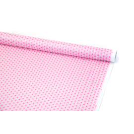 "Paper coated 0,7m x 10 yards ""Raspberry hexagons"""