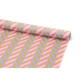 """Бумага Крафт 0,7х8м """"Колосок"""" Розовый + Серый"""
