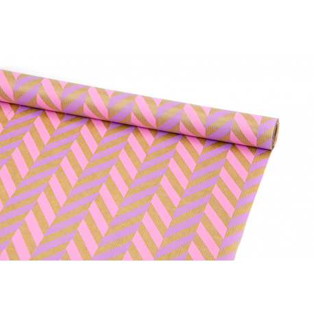 "Бумага Крафт 0,7х8м ""Колосок"" Розовый + Сиреневый"