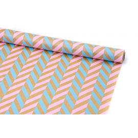 "Бумага Крафт 0,7х8м ""Колосок"" Розовый + Голубой"