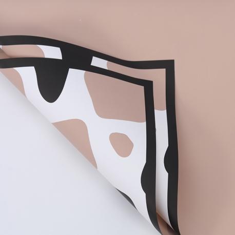 "Film opaque in sheets ""Cow print"" P.CLFZ-C-155 Milky Tea"