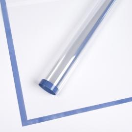 Transparent film with a border of P.MLWX-105 Carolina Blue