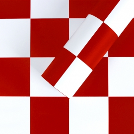 """Matte film in chess sheets """"S.YJN-3 Red"""