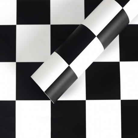 "Пленка матовая в письмах ""Шахматы"" S.YJN-5 Black"