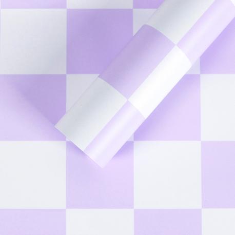 """Пленка матовая в листах """"Шахматы"""" S.YJN-4 Lavender"""