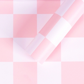 """Matte film in chess sheets """"S.YJN-1 Pink"""""""