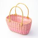 Корзина овальная розовая