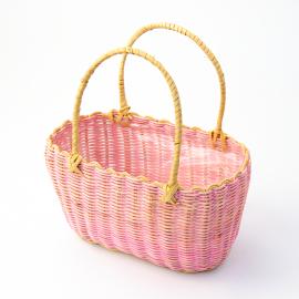 Корзина овальна рожева 25-036/QQ12-001