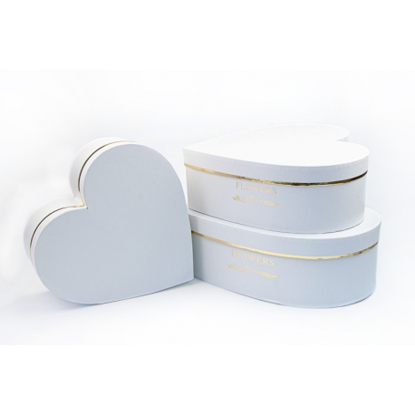 Set of heart boxes with 3 pcs W5311 White