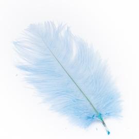 Перья страусиные голубые 20-25см