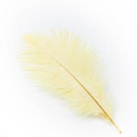 Перья страусиные молочные 20-25см
