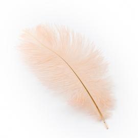 Перья страусиные персик 20-25см
