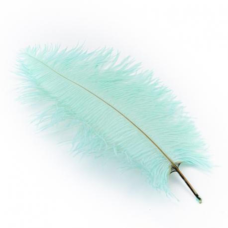 Ostrich feathers mint 40-45cm