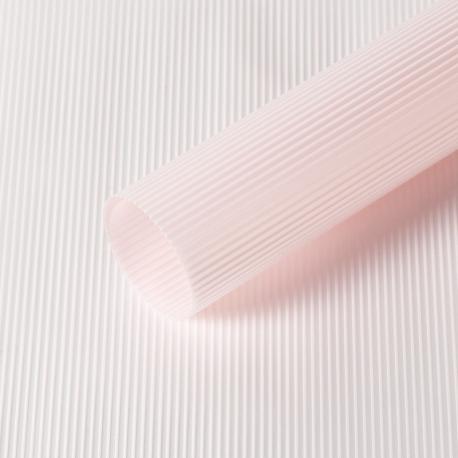 "Матовая пленка в рулоне 0,6 х 9 м ""Полоски винтажные"" S.WMX-03 Lt Pink"