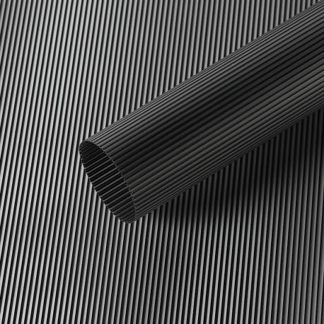 """Матова плівка в рулоні 0,6 х 9 м """"Полоски вінтажні"""" S.WMX-09 Black"""