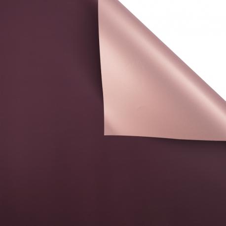 Плівка матова двостороння 60 × 60 см. Pink gold марсала