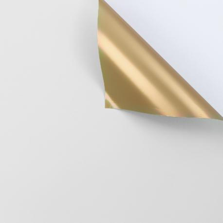 Пленка матовая двосторонняя 60 × 60 см. Antique Gold белый