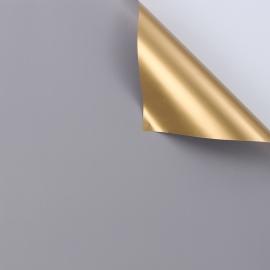 Плівка матова двостороння 60 × 60 см. Antique Gold сірий