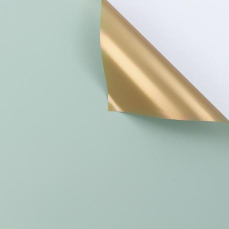Matte double sided film 60 × 60 cm. Antique Gold pistachio