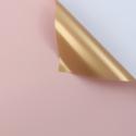 Пленка матовая двосторонняя 60 × 60 см 166 Light Pink + Gold