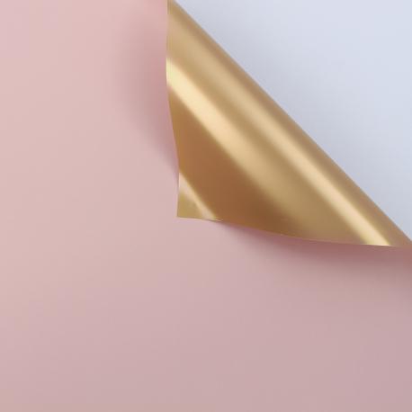Пленка матовая двосторонняя 60 × 60 см. Antique Gold пудра