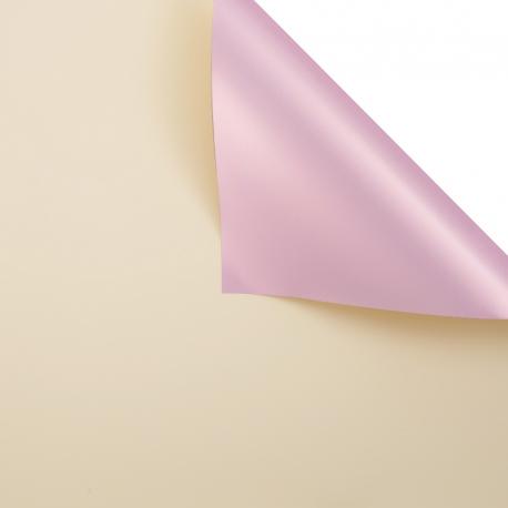 Плівка матова двостороння 60 × 60 см. Pink gold ваніль