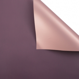 Matte double sided film 60 × 60 cm. Pink gold eggplant
