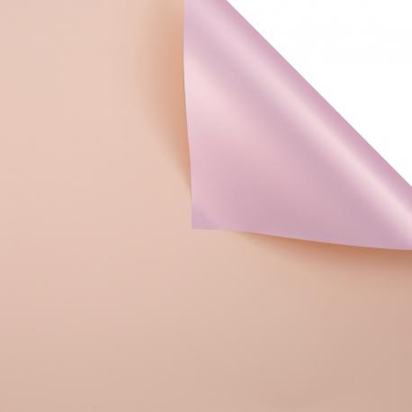 Пленка матовая двосторонняя 60 × 60 см. Pink gold персик