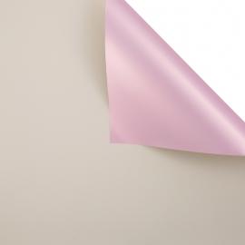 Matte double sided film 60 × 60 cm. Pink gold biege