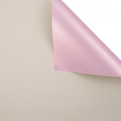 Пленка матовая двосторонняя 60 × 60 см. Pink gold беж