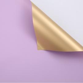 Плівка матова двостороння 60 × 60 см P.GOY 032 Lavender + Gold