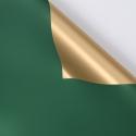 Пленка матовая двусторонняя 60 × 60 см P.GOY 096 Green + Gold