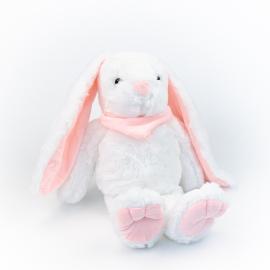 Іграшка поліестерна Кролик 0220-5 Білий з рожевими вушками
