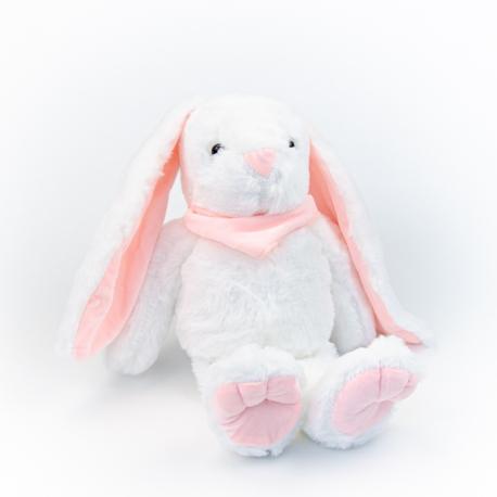 Игрушка полиэстерная Кролик 0220-5 Белый с розовыми ушками