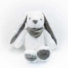 Игрушка полиэстерная Кролик 0220-5 Белый с серыми ушками