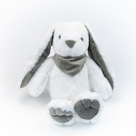 Іграшка поліестерна Кролик 0220-5 Білий з сірими вушками