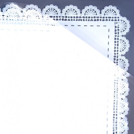 Пленка матовая в листах с кружевом S.HBLS 4 Белая