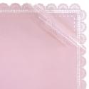 Плівка матова в листах з мереживом S.HBLS 5 Рожева